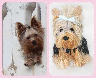 4 Yorkshire terrier amigurimi tejido a crochet paso a paso