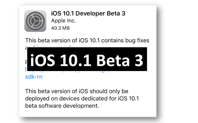 Apple has released the iOS 10.1 beta 3 software version with a build number 14B71 to developers for testing. This third beta version of iOS 10.1 fixes on Notes and enables the new 'Portrait' depth of field camera mode for the iPhone 7 Plus.