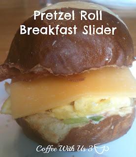 Pretzel Roll Breakfast Sliders