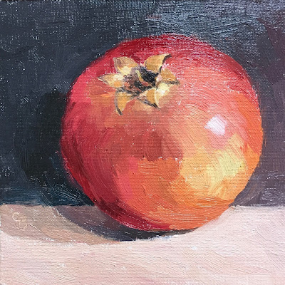 #60 'Pomegranate' 6×6″
