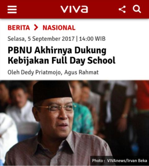 Hoax PBNU Dukung FDS
