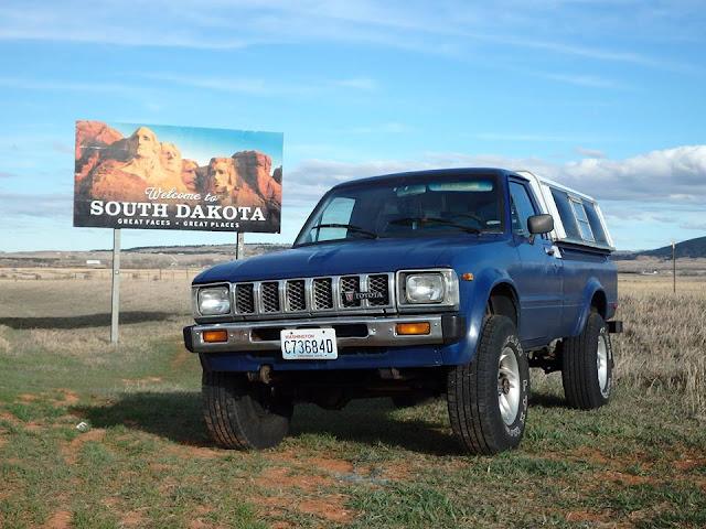 road trip, toyota, truck, south dakota, adventure