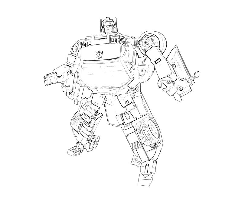 transformers coloring pages side swiper - photo#20