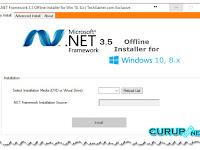 Cara Mudah Install NetFrameWork 3.5 di Windows 8 dan 10 Offline