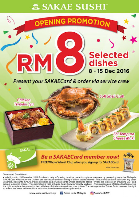 Sakae Sushi Malaysia Opening Discount Promo