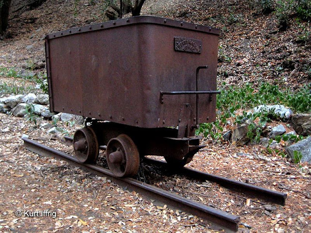 This old mine cart can be found behind the Mt. Baldy Visitor Center. It probably came from a nearby mine.