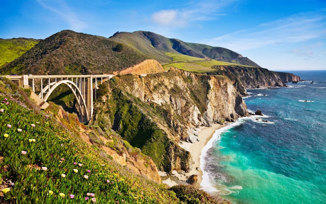 Ponte Bixby Bridge em Big Sur