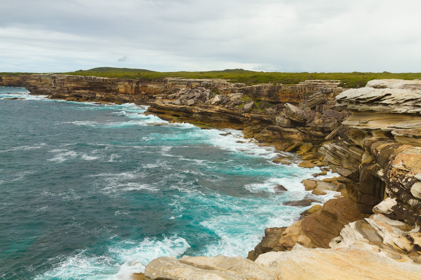 Cliffs of Kurnell in Sydney, Australia