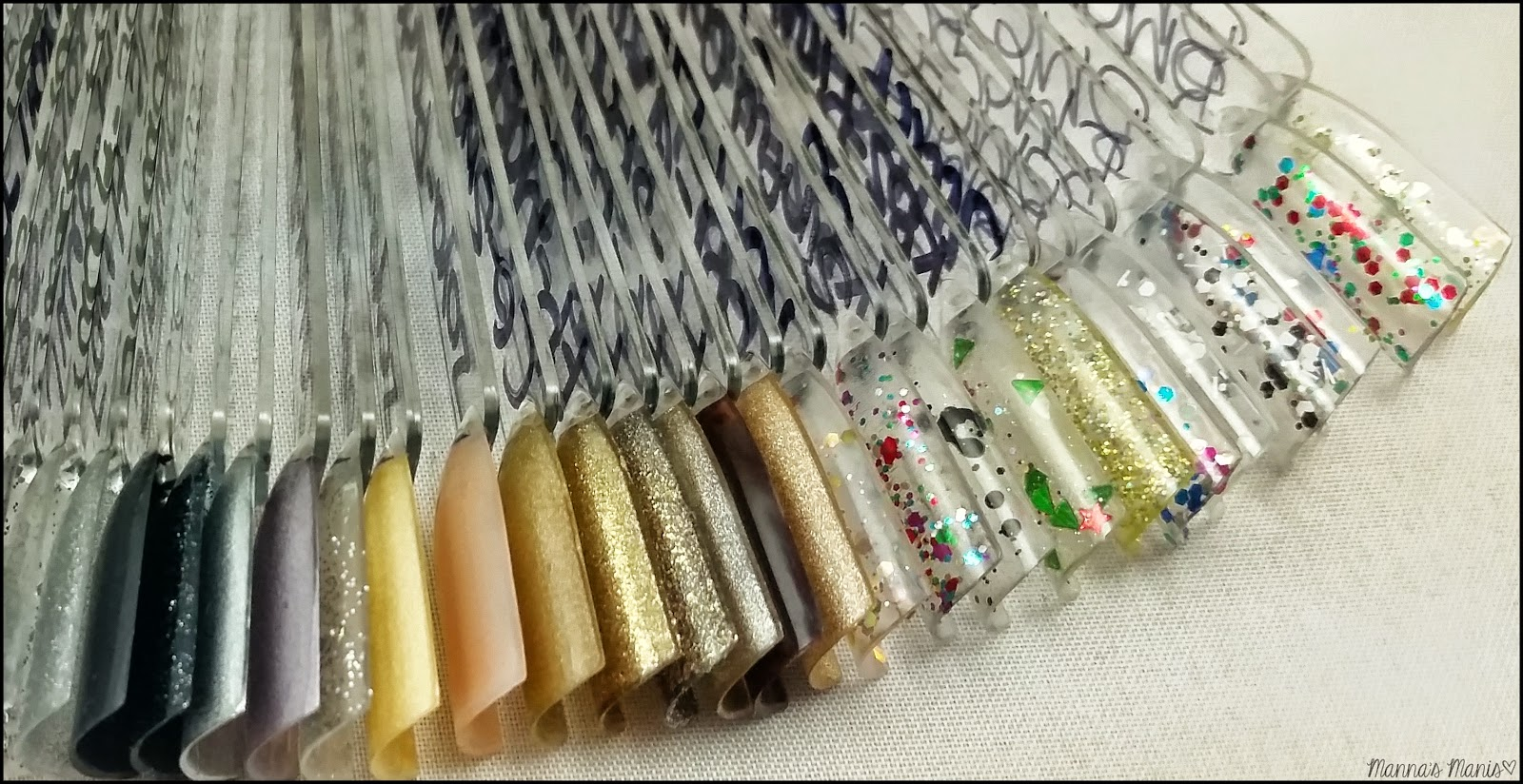 glitter swatch sticks