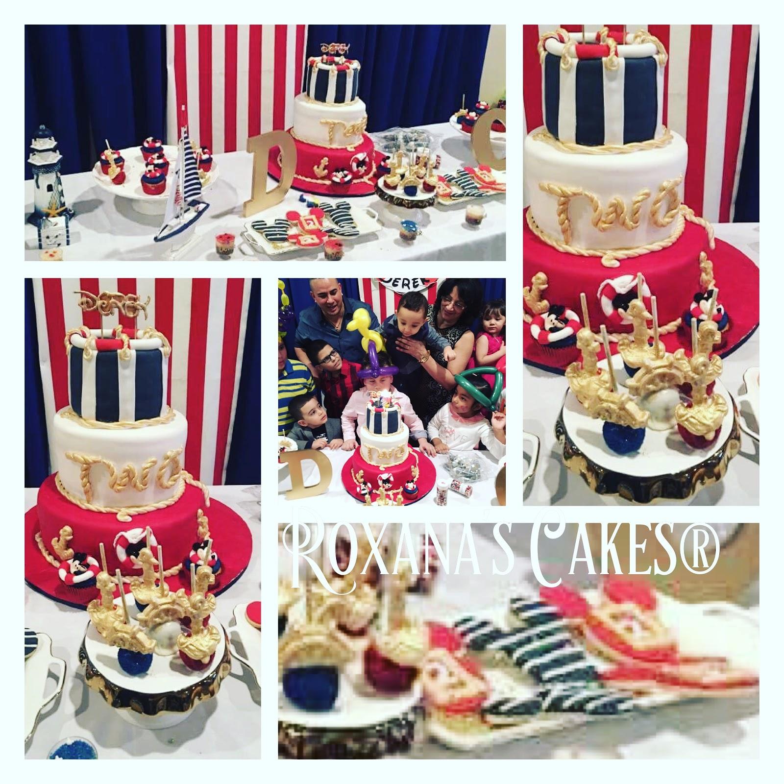 Baking With Roxanas Cakes 1st Birthday Cake Mickey Mouse Nautical