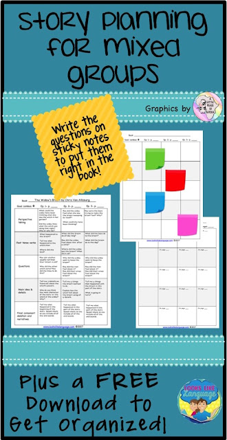 Story Planning for Mixed Groups- with a freebie! Looks-Like-Language