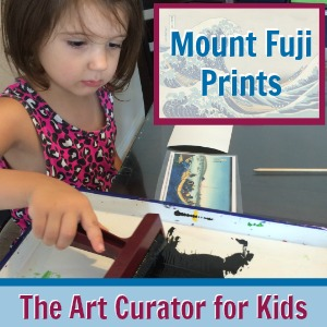 Mount Fuji Prints, as part of Around the World in 30 Days- Geography and cultural activities for toddlers and preschoolers