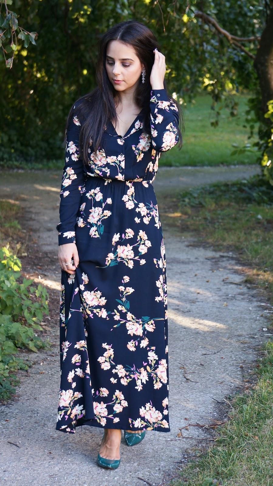 603cd29471 Thaïs Ribbon X Shein: Floral Maxi Dress   Thaïs Ribbon