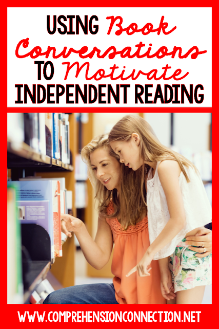 Conversations between teachers and students are critical in motivating students, but how can we use them to motivate independent reading? Check out this post for ideas you can use in your classroom to make book conversations more meaningful. (FREEBIE INCLUDED)