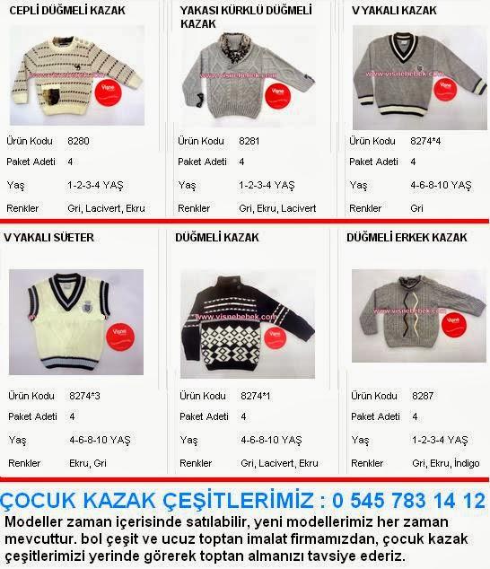 Çocuk kazak Modelleri çocuk kazakları toptan satışı