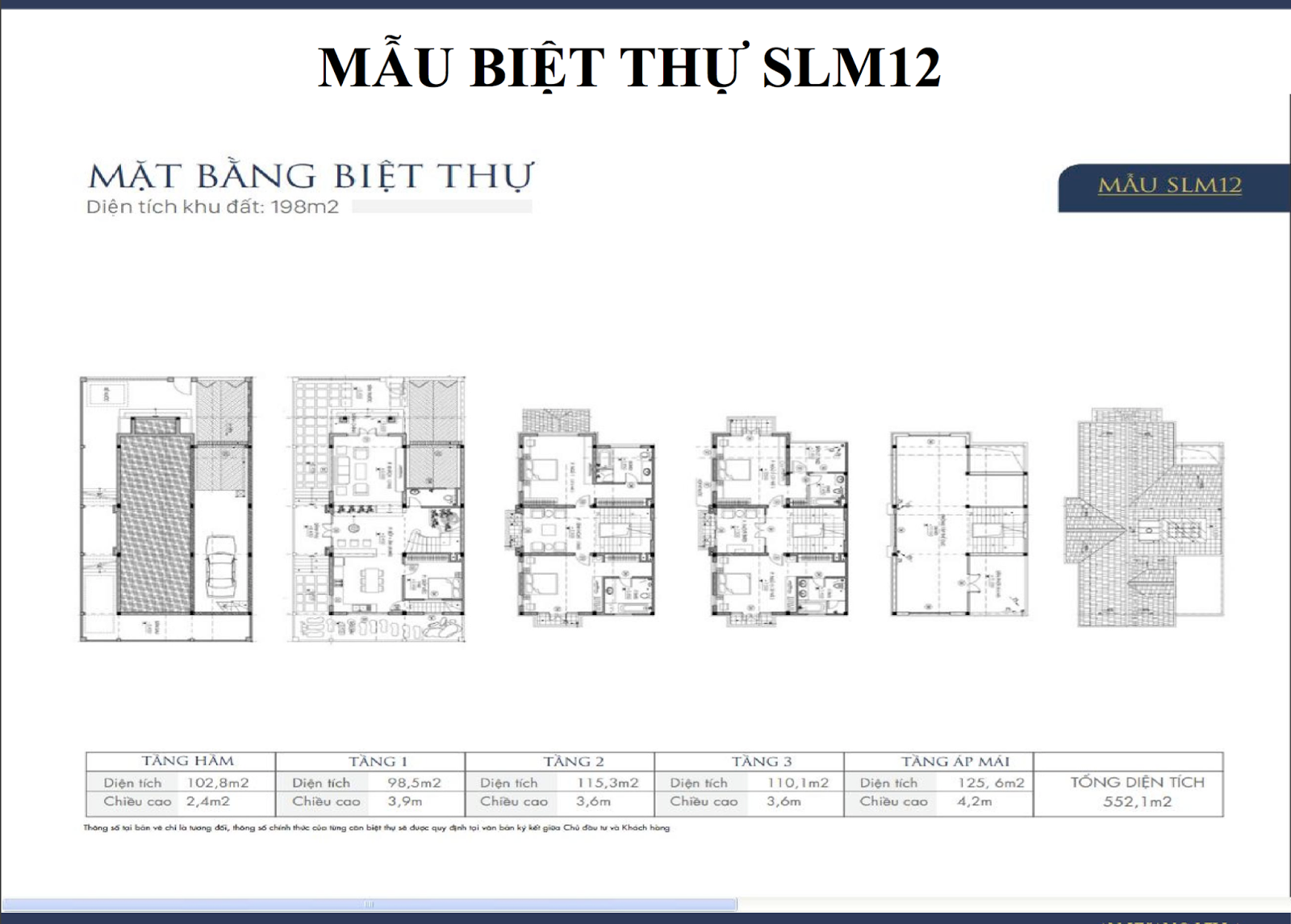 Mẫu biệt thự An Khang Dương Nội SLM12