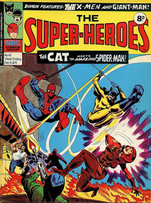 Marvel UK The Super-Heroes #40, Spider-Man and the Cat