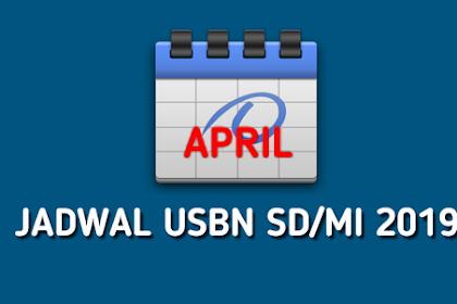 Jadwal USBN SD/MI Tahun Pelajaran 2018-2019