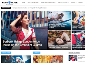 Newspaper 9 - Responsive Blogger Template