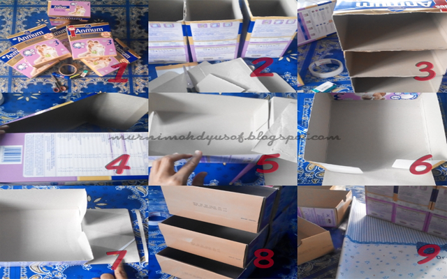 step by step diy sorage box, storage box