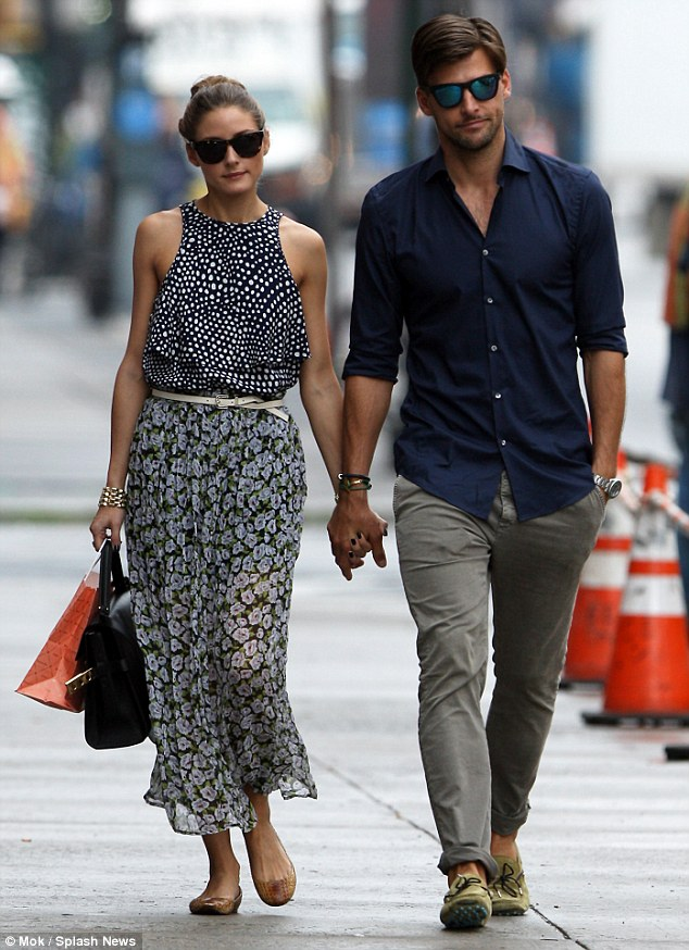 Olivia Palermo look for less, floral skirt, polka dot top, NYC, New York, spring, outfit inspiration