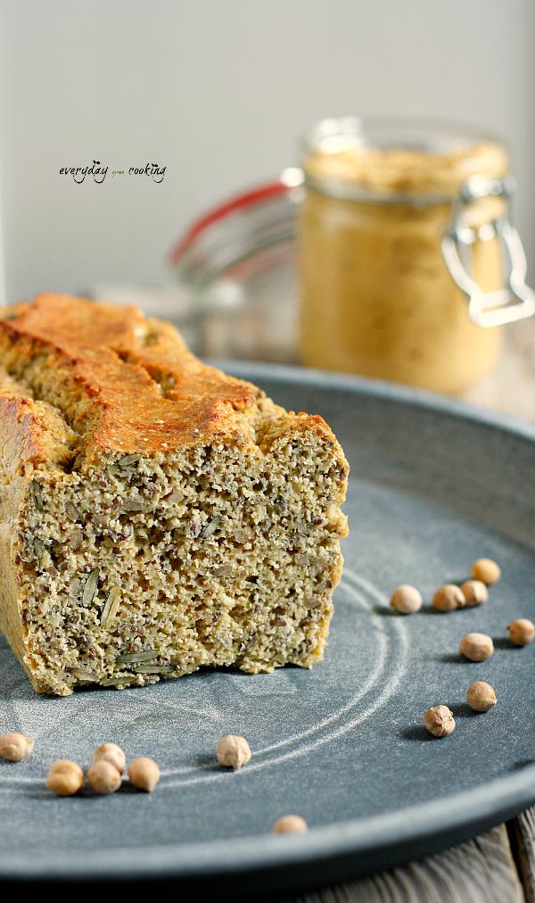 Chleb proteinowy + hummus z batatem