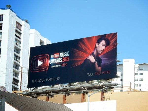 Max YouTube Music Awards 2015 billboard
