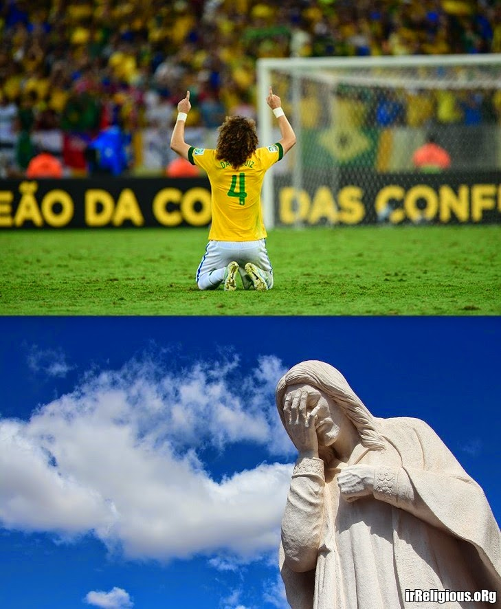Funny Football World Cup Prayer Jesus Facepalm Joke Picture