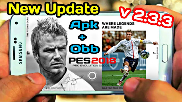 Download PES 2018 Mobile New Update V 2.3.3 Apk+Obb (Android/IOS)