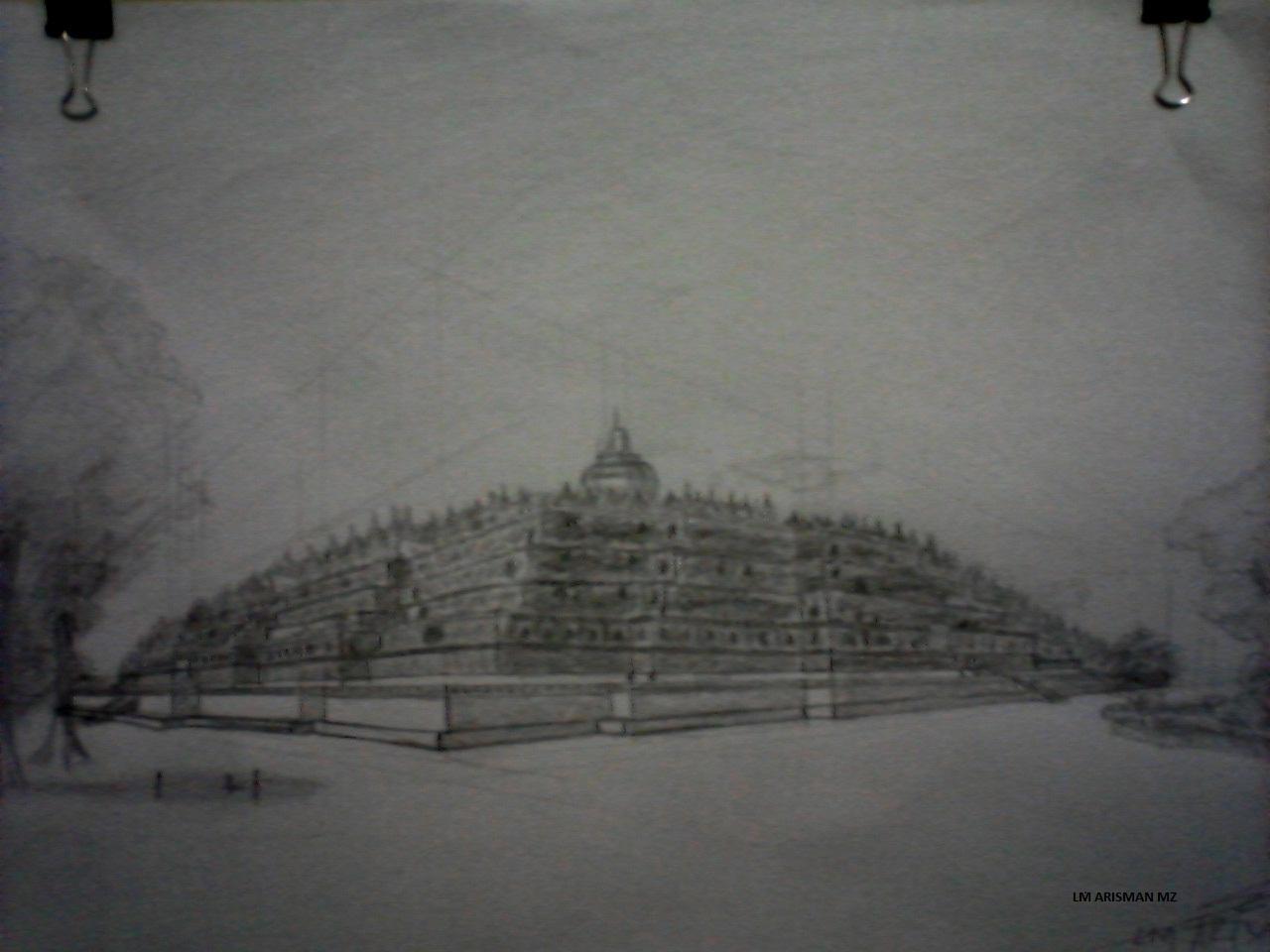 Koleksi Gambar Sketsa Pensil Candi Borobudur