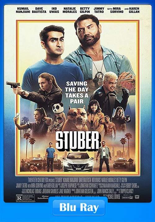 Stuber 2019 Hindi 720p BluRay Dual Audio English ESub x264 | 480p 300MB | 100MB HEVC