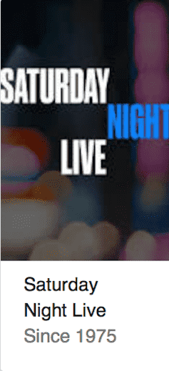 Saturday Night Live Best TV Shows