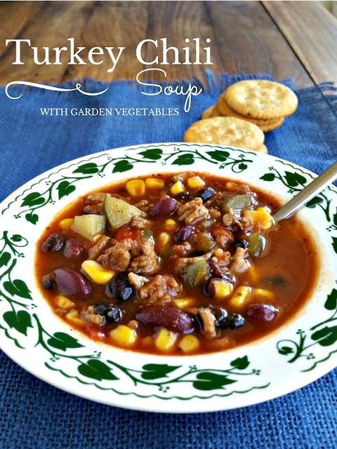 Turkey Chili Soup with Garden Vegetables