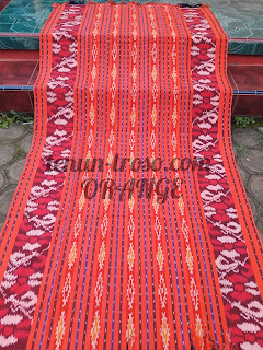 Kain Blanket Jepara Warna Orange Motif Bunga