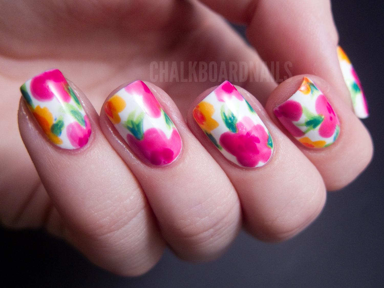 Nails Art: China Glaze Summer Neons Nail Art: Hawaiian Floral