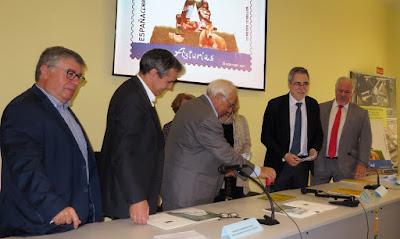 Inauguración y presentación del sello de Asturias, Archivo Histórico