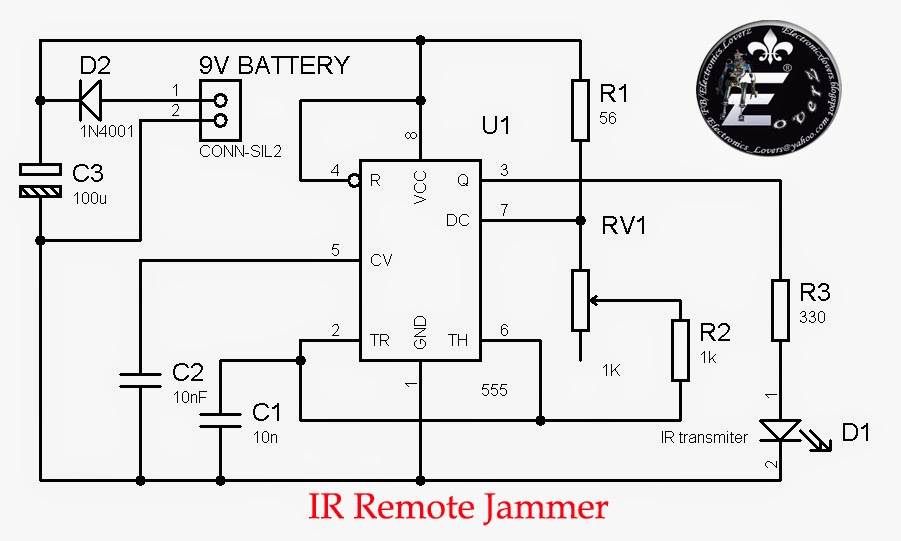 two tone siren circuit schematic using one ic