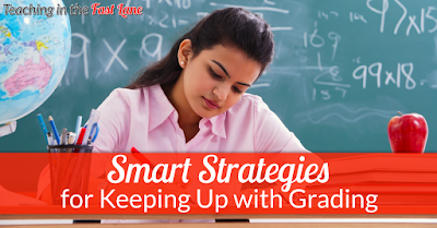 Are you drowning in grading? Check out these SMART strategies for keeping up with grading and conquering the paper pile!