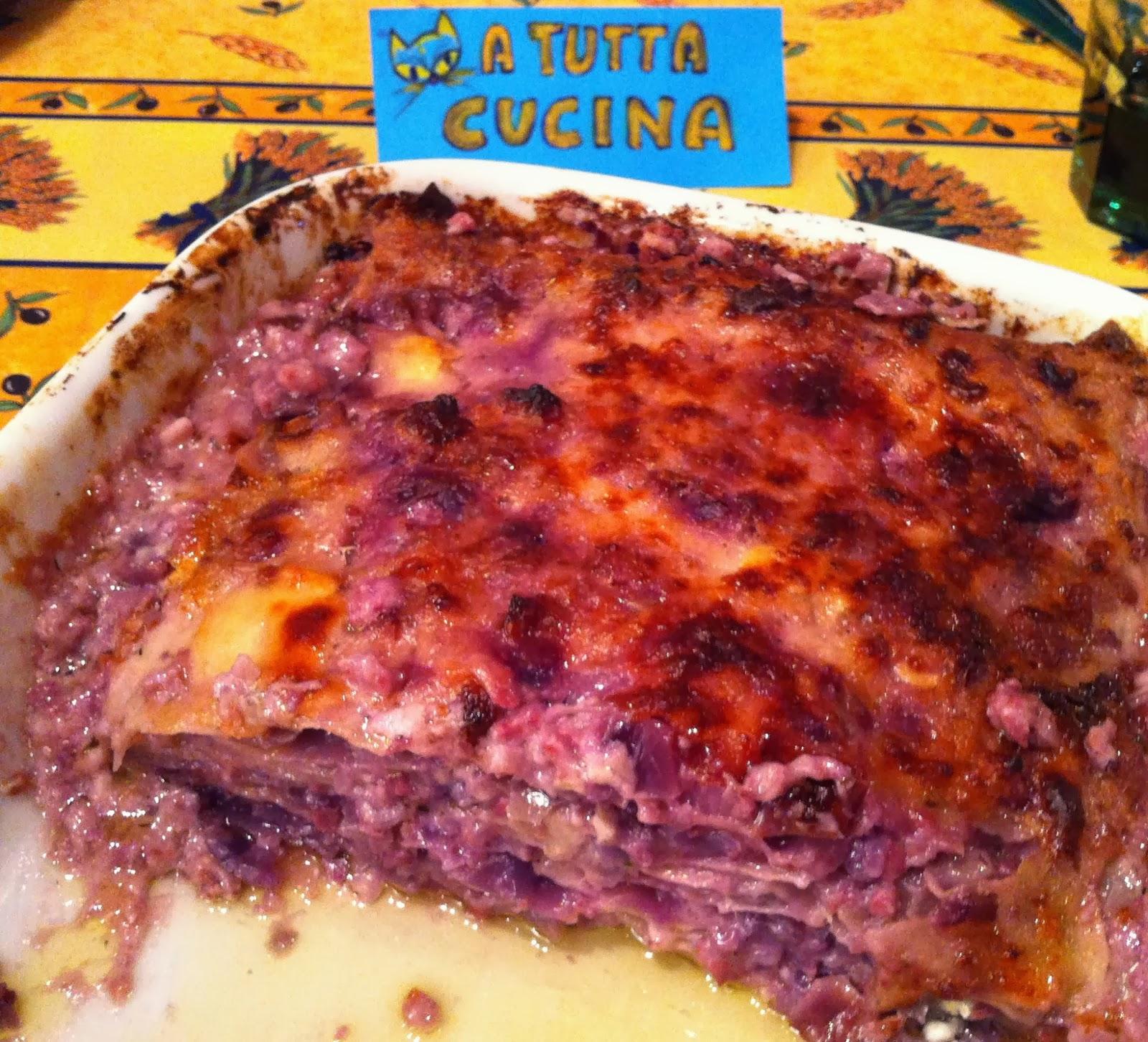A Tutta Cucina Lasagne Al Cavolo Rosso E Brie