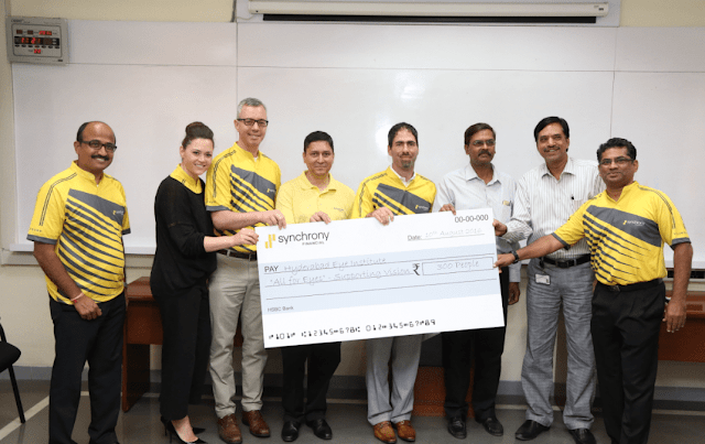 Synchrony Financial supports vision care for 300 people at L V Prasad Eye Institute