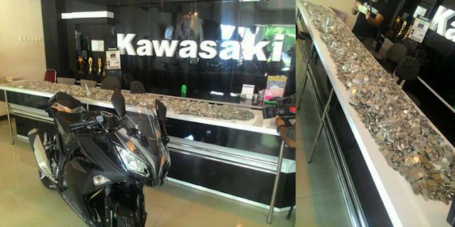 WOW! Beli Ninja Pake Uang Koin Rp.1000 an, Hasil Menabung 2 Tahun