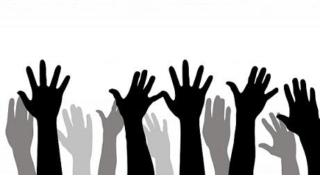 Imagem de mãos para cima