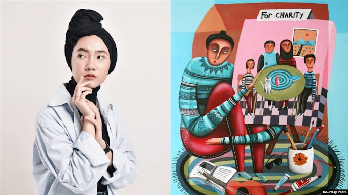 Karya Seniman Perempuan Cilegon Terpilih Tampil di Akun Resmi Instagram
