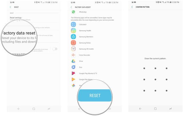 Cara Reset Ulang Galaxy S8/S8+ Ke Pengaturan Pabrik