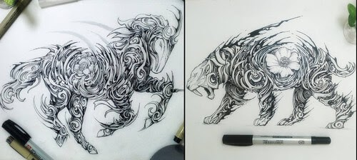 00-Animal-Drawings-Syahid Zain-www-designstack-co