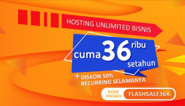 Cara Mendapatkan Hosting Unlimited Satu Tahun Hanya 36 Ribu Rupiah