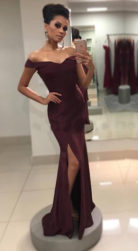 vestido de festa vinho marsala