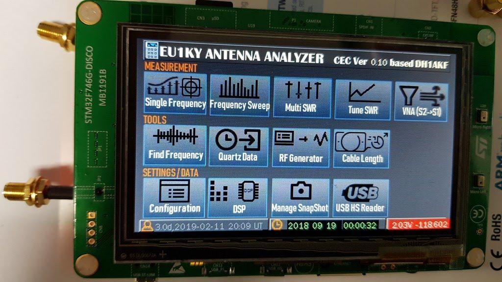 4  Antenna Analyzer(EU1KY) - How to Setup and Calibration