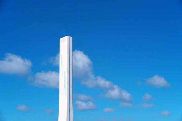 clouds, sky, Kin Town, Okinawa, power plant, smokestack