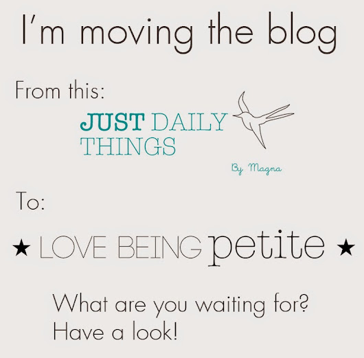 Just daily things: I'm moving the blog
